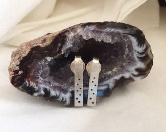 Boucles d'oreilles repercées argent 925 / Earrings, silver 925