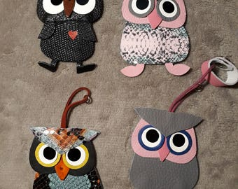 Keychains owls and birds