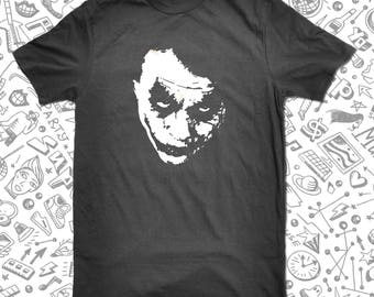 Joker Why So Serious T-Shirt Heath Ledger Tribute Tee Joker T-Shirt Homemade Silkscreen T-Shirt Graphic Tee Men Women S-3XL T-Shirt