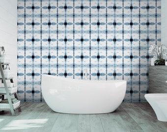 removable wallpaper blue white peel u0026 stick wallpaper self adhesive temporary decal mid century modern geometric