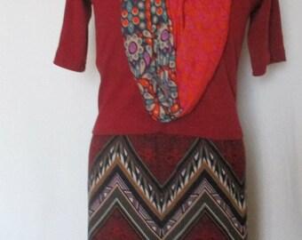 Skirt: Burgundy