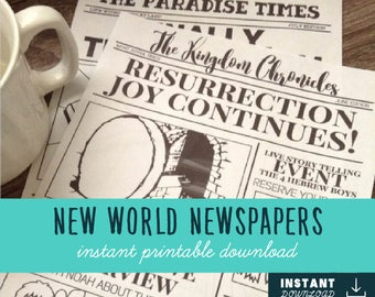 New World Newspapers | JW Game/Gift | Jw Kids | Jehovah's Witnesses | JW | JW Printables | Family Worship