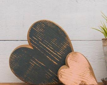 Large Handmade Wooden Heart