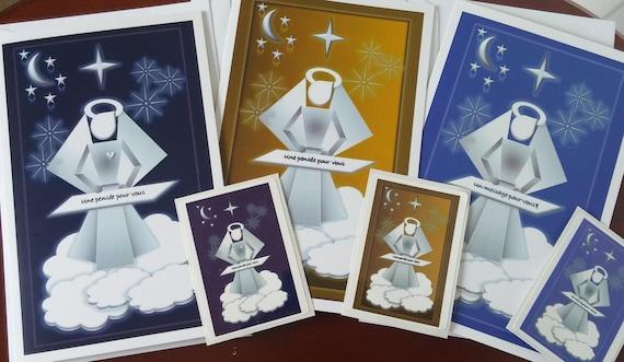 Cartes avec ANGE/Carte de confirmation/Fête des mères/Carte rétablissement/Carte anniversaire/Anges électrosatique