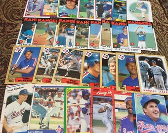 28 Texas Rangers Baseball Cards 1980's