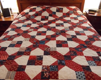 Stars and Stripes Queen Quilt