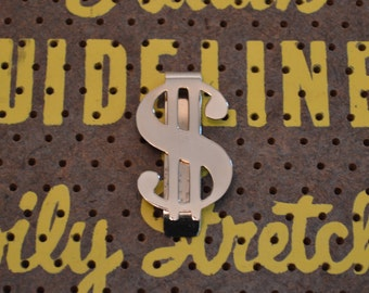 "Gold Tone ""Bowman's 21"" Dollar Sign Money Clip"