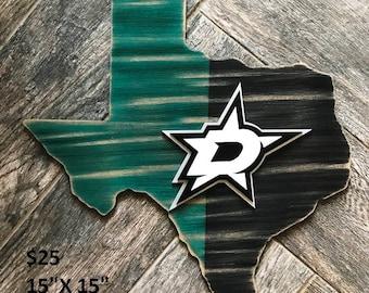Rustic Dallas Stars Sign