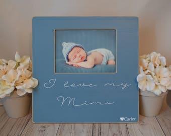Mimi picture frame  Custom picture frame  I love my Mimi picture frame  Mimi gift  Personalized picture frame