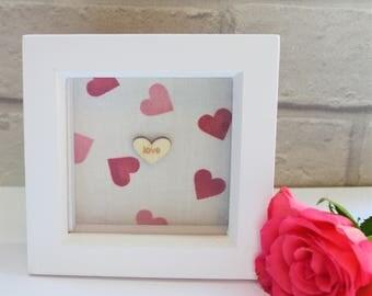 Emma Bridgewater Pink Hearts frame, Emma Bridgewater decoration, love frame, wedding gift