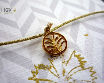 BRACELET * sheet * gold thread