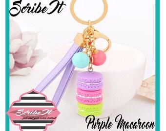 Keychain Purple Macaroon