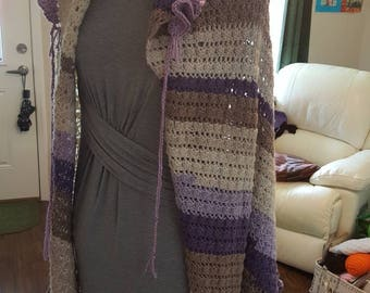 Cape/Shawl with hood. Long and fluttery! Perfect!