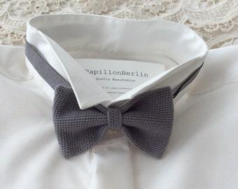 Knitted fly, silk/wool, grey