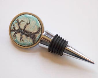 Bare tree Stainless steel wine stopper
