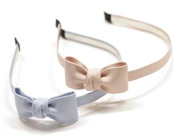 Artificial Leather Headbands, Headbands for Women, Headbands for Girls, Adorable Headbands, Ribbon Style Headband