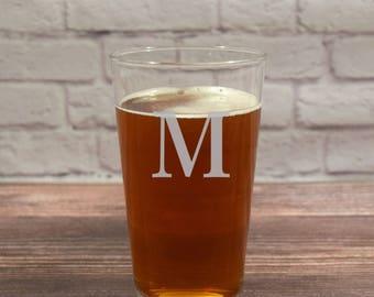 Monogram Beer Glass, Beer Glass Initial, Custom Initial Glass, Custom Beer Glasses, Personalized Beer Glasses, Etched Beer Glasses