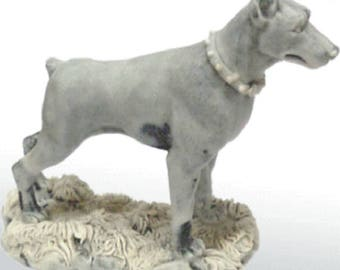 Doberman Pinscher figurine Dog marble chips realistic Souvenirs from Russia