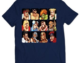 Street Fighter II Defeated Portraits T-shirt