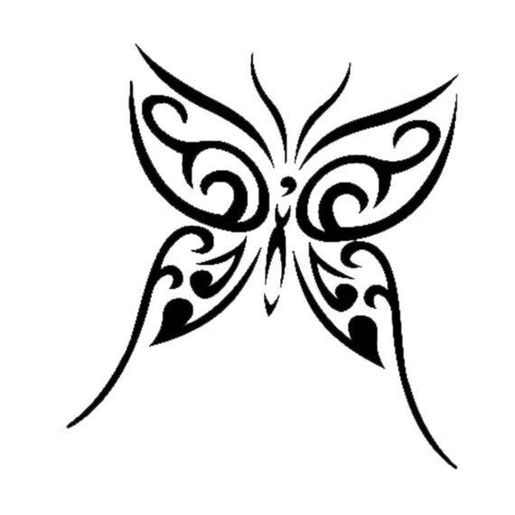 Farfalla disegno tattoo tatuaggio mascherine stencil per for Stencil da stampare per cucina