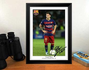 Lionel Messi FC Barcelona 2015 -16 - Autographed Signed Photo Print