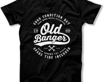 50th Birthday T Shirt For Him 50th Birthday Gifts For Men Personalized Birthday Gift 50 Years Old Banger 1968 Birthday Mens Tee DAT-1294