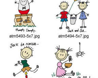A-Kids-View-Nursery-Rhymes-5x7. ( 7 Machine Embroidery Designs from ATW ) XYZ17F