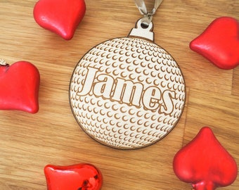 Golf Gifts for Men - Fathers Day Golf - Golf Ball - Golf Ornament - Golf Gifts - Golf Gifts for Women - Personalized Golf Gift - Sports Gift