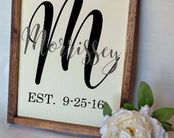 EST. Family Name Sign