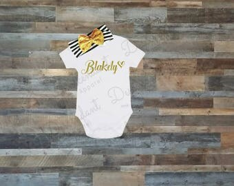 personalized onesie, personalized boy onesie, custom name onesie, take home outfit, newborn outfit, hospital outfit, new baby, baby gift
