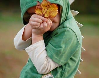 2T Dinosaur Hoodie, Baby green Dino, Dinosaur Toddler, Baby T Rex, Spikes, Scaled Dinosaur tee, boy Dino, Girl Dino, 18-24 month Dino hoodie