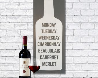 Funny painted wooden sign, wine signs for kitchen, wine gifts, sign for the home, natural wood sign, gifts for wine lovers, gifts for mom,
