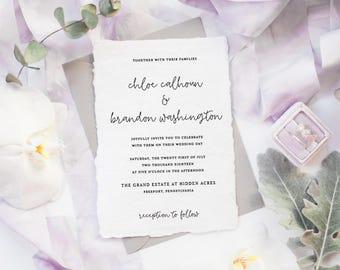The Chloe Suite | Wedding Invitation Suite, Wedding Invitation, Romantic Wedding Invitation, Calligraphy Wedding Invitation