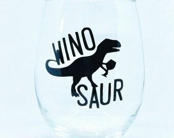 WinoSaur 21oz stemless wine glass