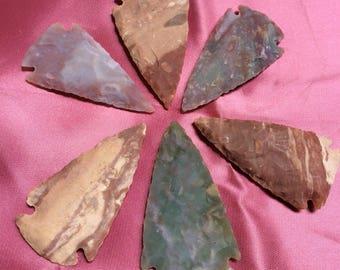 Handmade natural stone arrowhead - 1 piece - #985