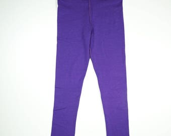 SAMPLE SALE// ANNA full length everyday legging, purple bamboo jersey, size 4T