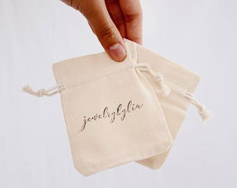 muslin bags, drawstring pouch - add-on to your order, perfect for gifting jewelry