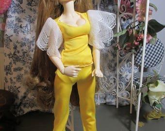 Doll Clothes, Sunny Yellow Pant Set, 3 Pieces, Fits 1/4 Minifee Bjds, MSD, Aprroximately 45 cm or 16 inch Tonner Antoinette dolls, Sale!