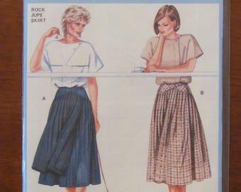 BURDA DRESSMAKING PATTERN - 6895 Ladies Skirt with Yoke, Tucks and Front Overlay, Sizes 10 - 18, Plus Sizes, New & Uncut