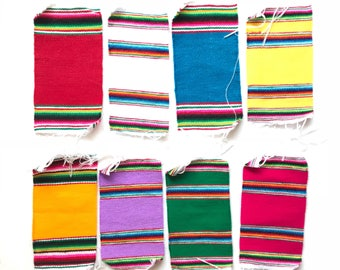Serape coasters, tribal coasters, fiesta decorations, mini serapes, mexican party decorations, fiesta party decorations, mexican party favor