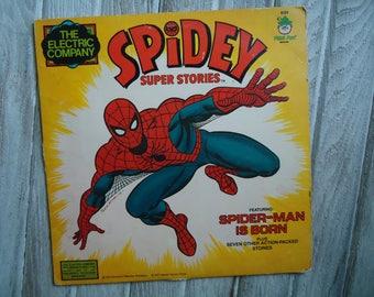 1977 Vintage Spider Man - Spider-Man - Spider-Man Gift - Vintage vinyl record - Spiderman Record - Vintage Comic Book decor - Spider-Man