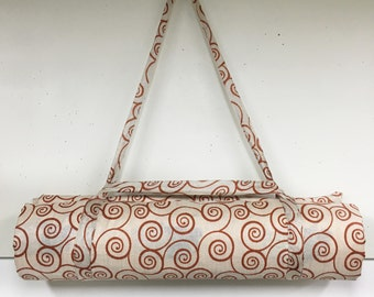Yoga mat carrier made from up cycled sari