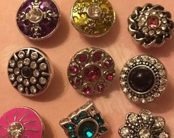 Just In New Styles of 12mm Interchangeable Snaps with Great Style and Charm - Add to Your Collection - Sold Separately