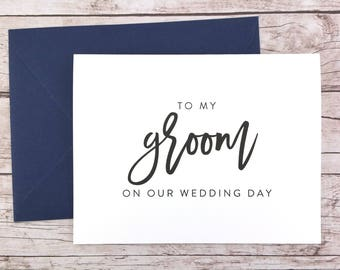 To My Groom On Our Wedding Day Card, To My Groom Card, Wedding Day Card, Wedding Gift, Card To Groom From Bride  - (FPS0017)