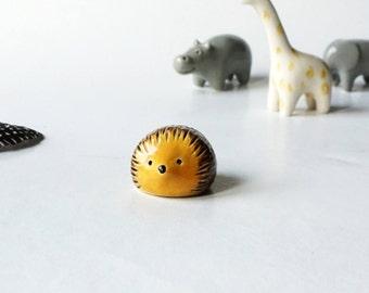 Hand Shaped Ceramic Hedgehog Figurine