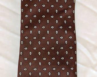 Robert Steward Necktie - All Silk - 1980's - Vintage -