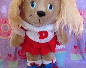 1984 Get Along Gang Dotty Dog Plush With Roller Skates