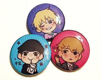 """1.25"""" Mob Psycho 100 Buttons"""