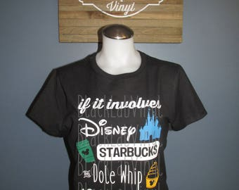 Disney Starbucks Dole Whip Ladies T Shirt