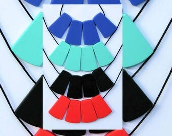 Trapezoid Silicone Necklace